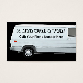 Man with a van #2A business / profile cards