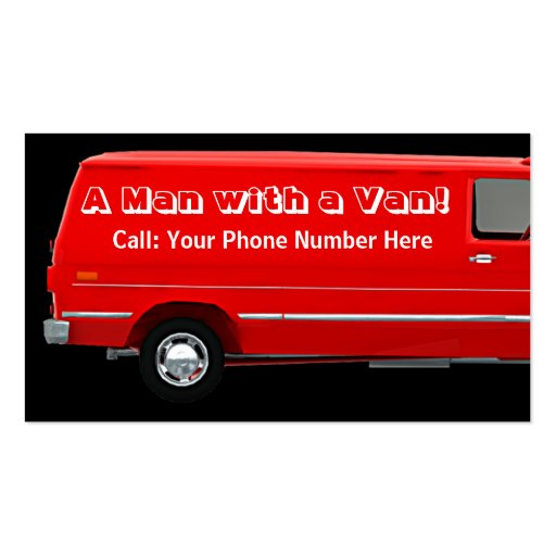 Man with a van #2B business / profile cards Business Card Templates