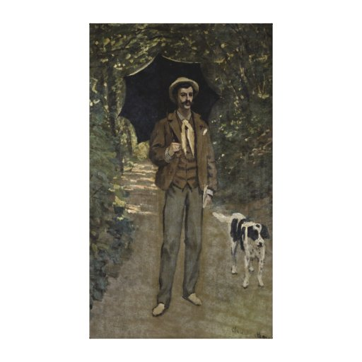 Man with an Umbrella, c.1868-69 Stretched Canvas Prints