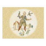 Man with Birds Postcards