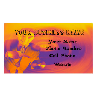Man with cd in hand business card