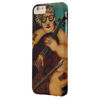 Man with contrabass playing music in the night barely there iPhone 6 plus case