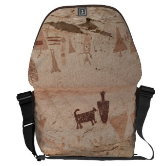 Man with Dog Petroglyph Commuter Bag