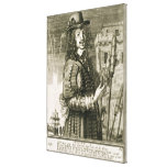 Man with firework rocket, from the 'Recueil de fig Canvas Print