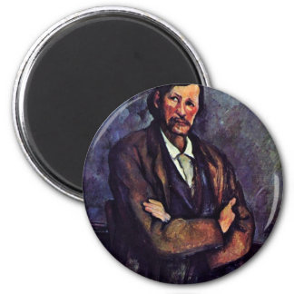 Man With Folded Arms By Paul Cézanne (Best Quality Refrigerator Magnet
