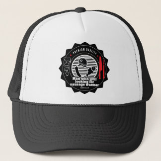 Man with grill looking for... trucker hat