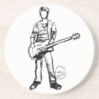 Man with Guitar Coasters