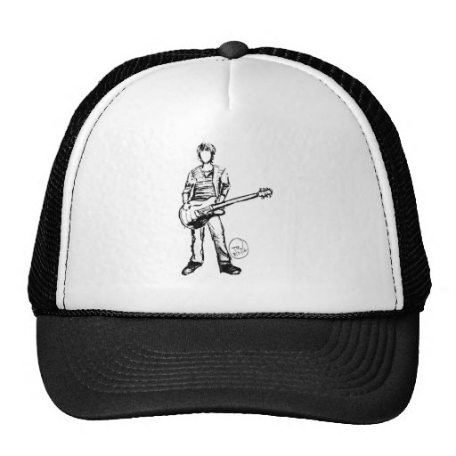 Man with Guitar Mesh Hats