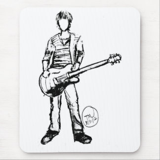 Man with Guitar Mouse Pad
