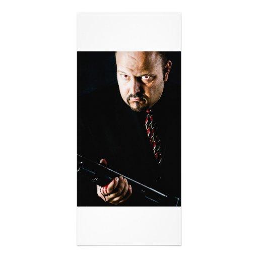 man with gun rack carfs rack card design