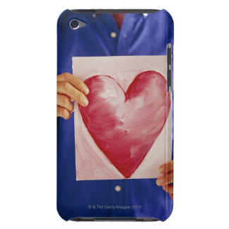 Man with painting of heart iPod touch cases