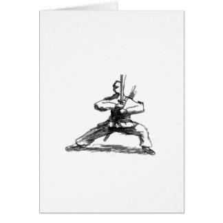 Man With Sword Card