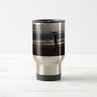 Man with to kite travel mug
