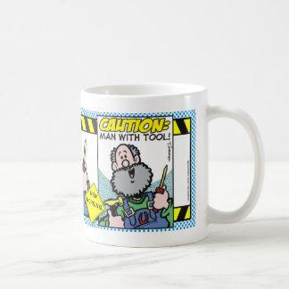 Man With Tool Coffee Mugs