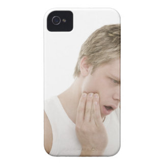 Man with toothache iPhone 4 Case-Mate case