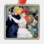 Man woman dancing renoir painting ornaments