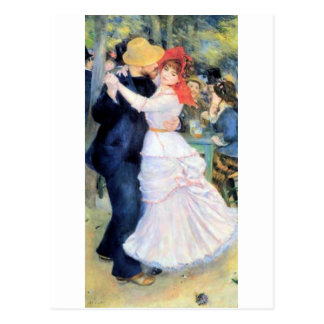 Man woman dancing renoir painting postcard