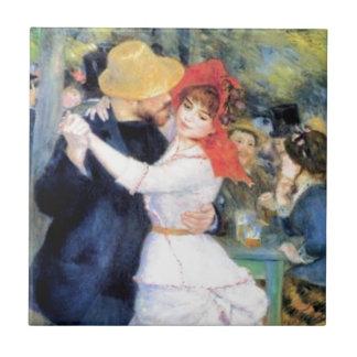 Man woman dancing renoir painting tile
