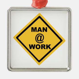 Man @ Work Christmas Ornament