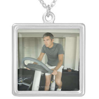Man working out in a gym 2 pendants