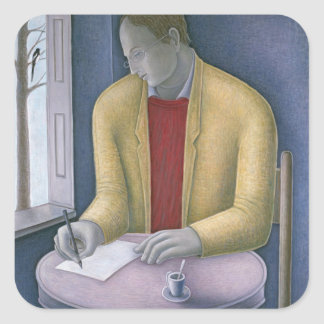 Man Writing 2004 Square Sticker