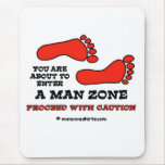 Man Zone Mouse Pads