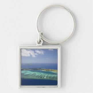 Mana Island and coral reef, Mamanuca Islands Key Ring