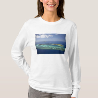 Mana Island and coral reef, Mamanuca Islands T-Shirt