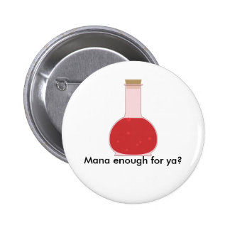 Mana vial 6 cm round badge