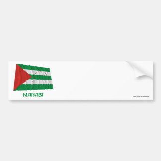 Manabí waving flag with Name Bumper Sticker