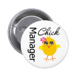 Manager Chick Pinback Buttons