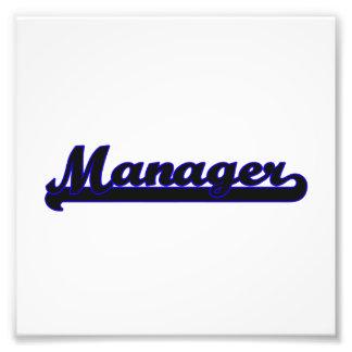 Manager Classic Job Design Photo Art