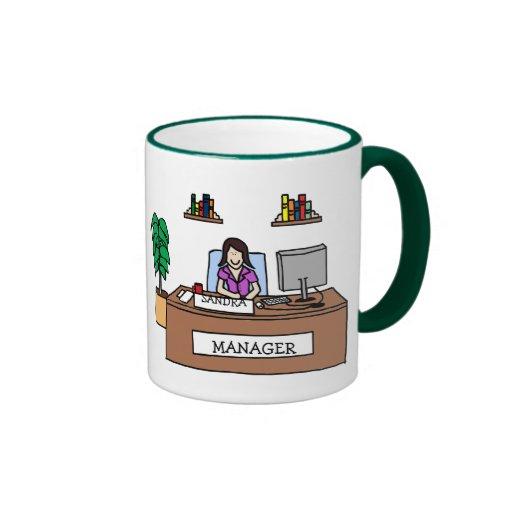 Manager - custom colors coffee mugs