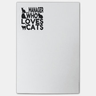 Manager Who Loves Cats Post-it Notes