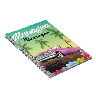 Managua - Nicaragua travel poster Notebook
