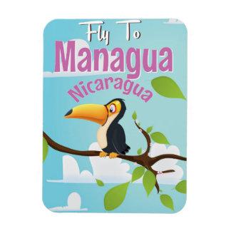 Managua, Nicaragua vintage travel poster Rectangular Photo Magnet