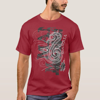 Manaia - Guardian (silver writing) T-Shirt