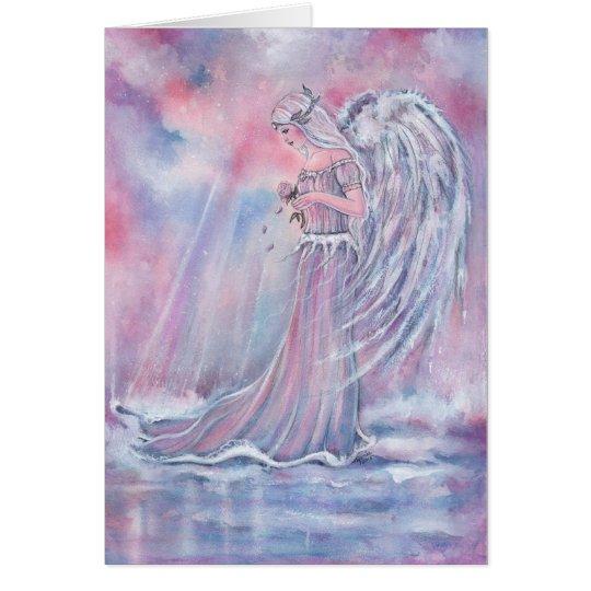 Manakel angel Christmas card by Renee