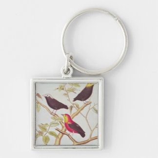 Manakins Silver-Colored Square Key Ring