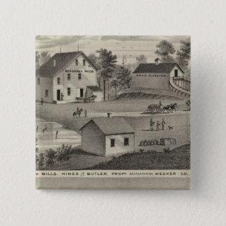 Manannah Mills, Manannah, Minnesota 15 Cm Square Badge