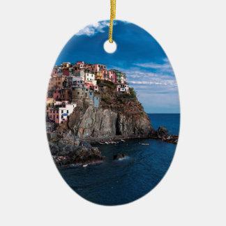 Manarola, cinque terre. Italy Christmas Ornament