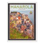 Manarola Vineyard Sunset - On Black