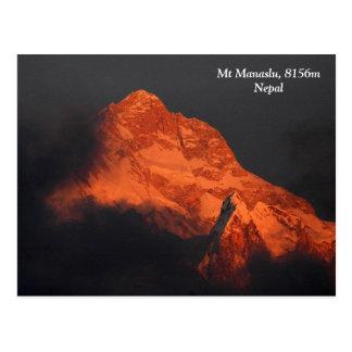 Manaslu Alpenglow Postcard