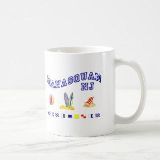 Manasquan NJ - Maritime Spelling Basic White Mug
