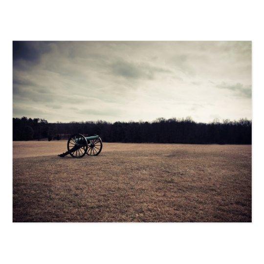Manassas Battlefield Cannon Postcard