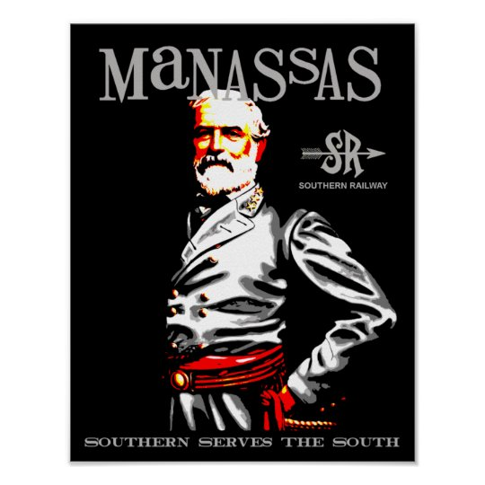 Manassas Virginia Retro travel Poster