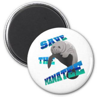 Manatee 6 Cm Round Magnet