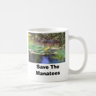 Manatee at BS, Save The Manatees Basic White Mug