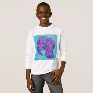 Manatee child's long sleeve tee shirt