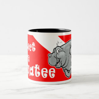 Manatee Diver Coffee Mug Protect the Manatee